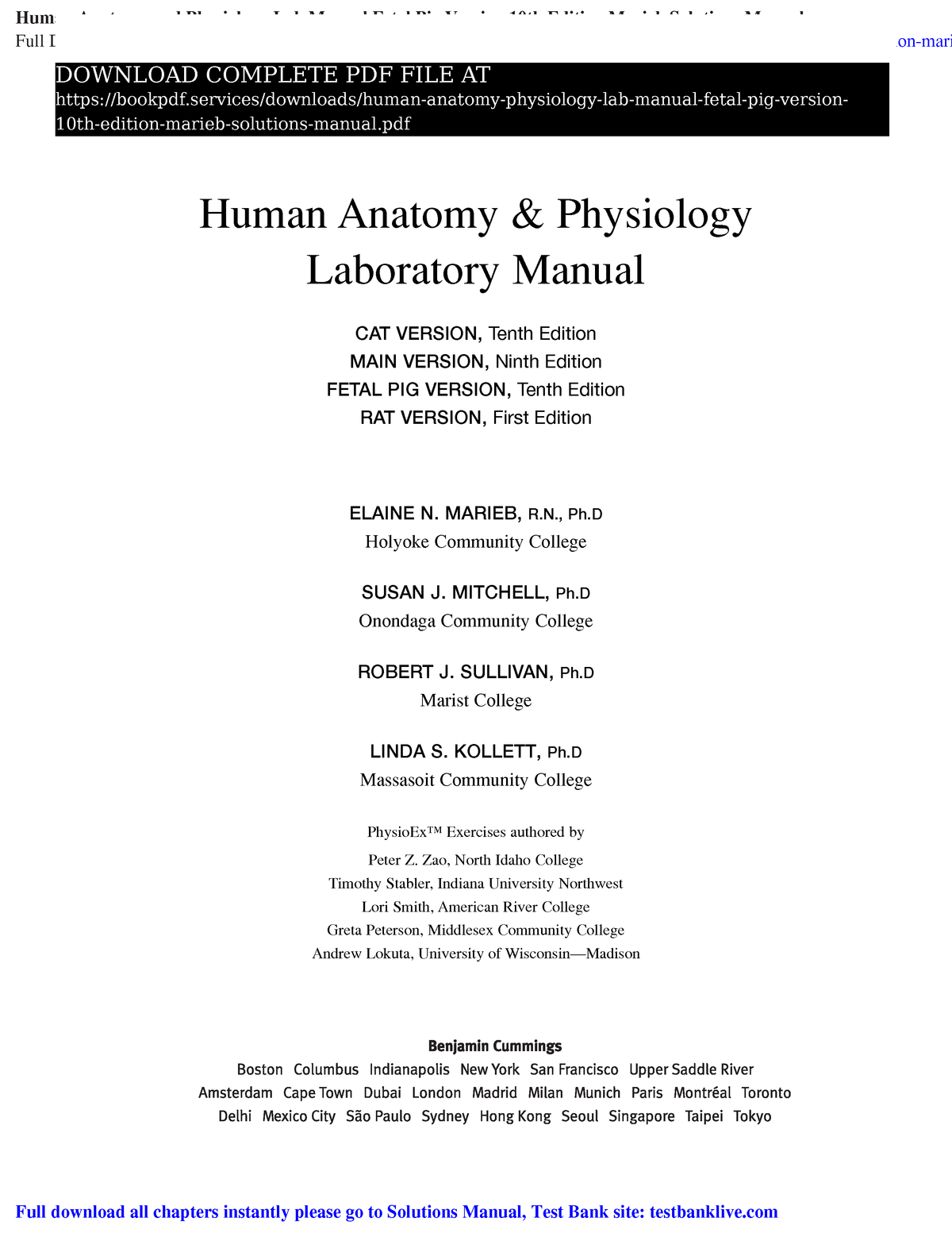 anatomy and physiology solution manual