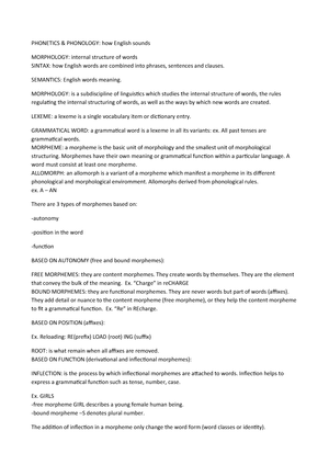 Phonetics - materiale per Lingua e Traduzione Inglese I