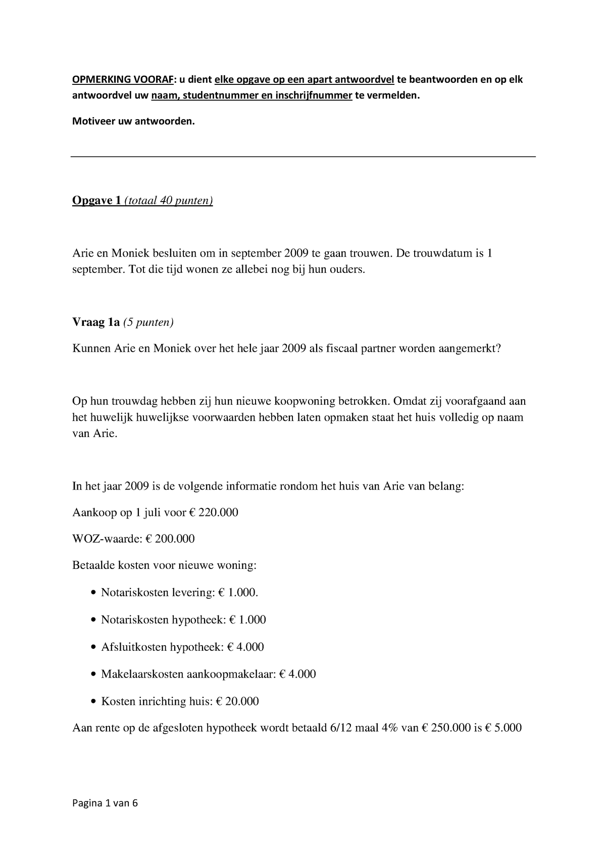 Tentamen 2011 Jur 3inkbenota Inkomstenbelasting