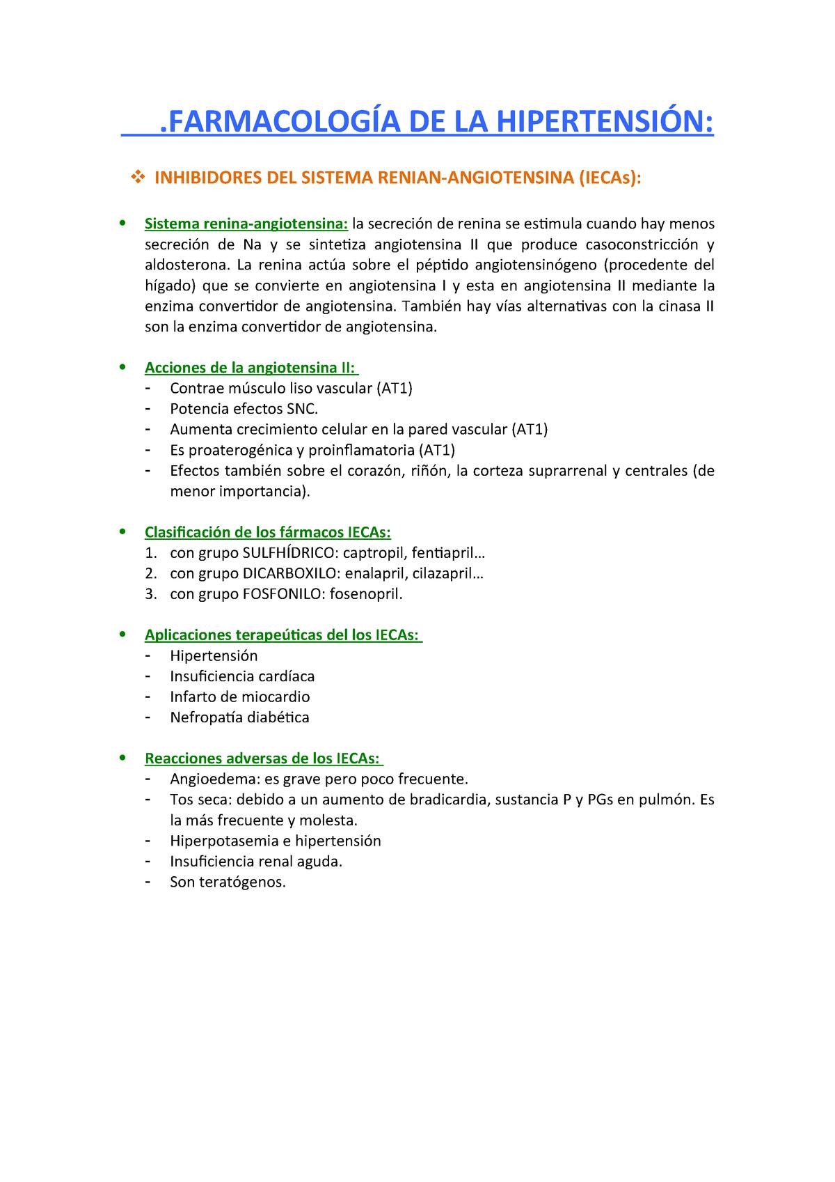 Bloqueadores de los receptores de angiotensina ii para la hipertensión
