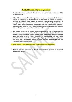 exam 2016 busl301 corporations law studocu