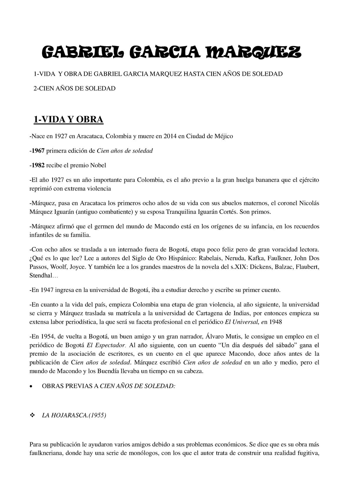 0e7f100bc1e003 Apuntes Literatura contemporánea en español Curso 2 - 27823: Literatura  contemporánea en español - StuDocu