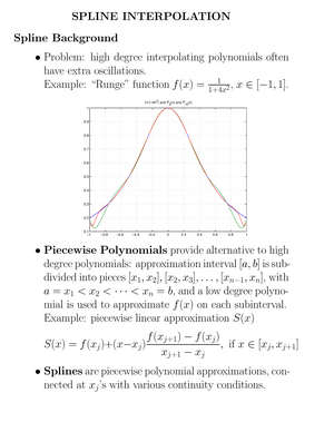 Lecture notes, lecture 3 - Spline interpolation - MATH 448