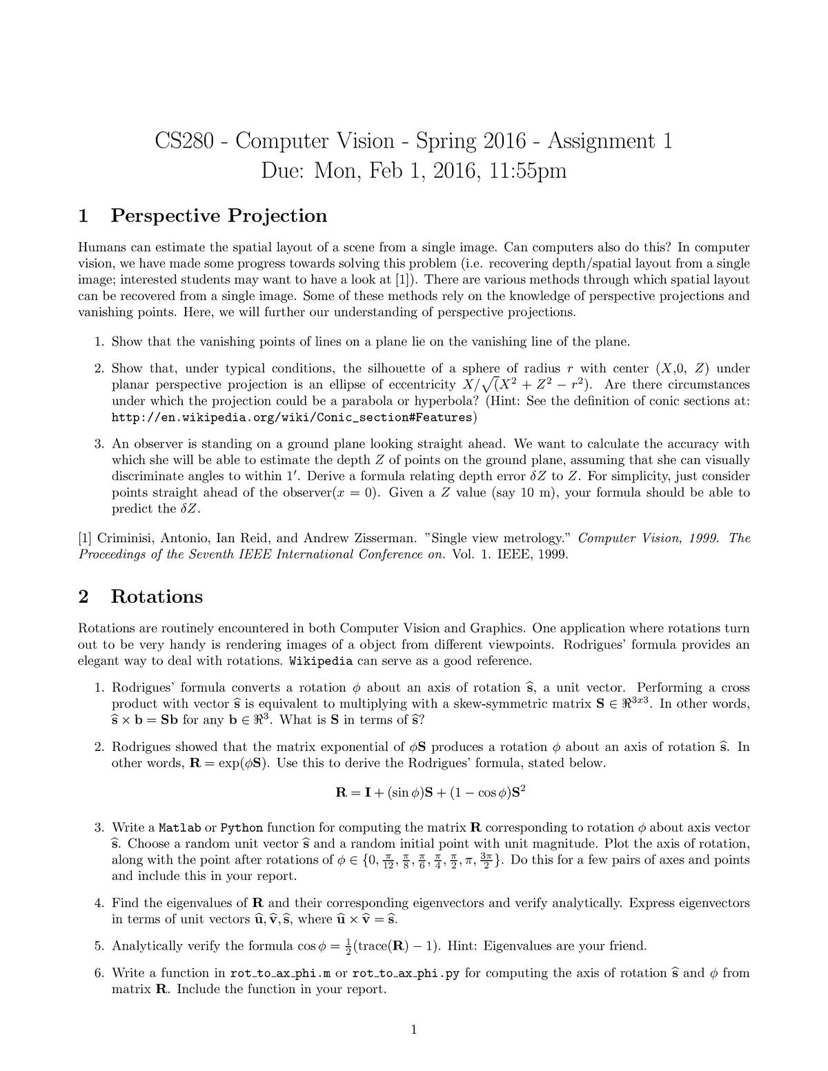Seminar Assignments - 1-4, Questions and Solutions - COMPSCI C280
