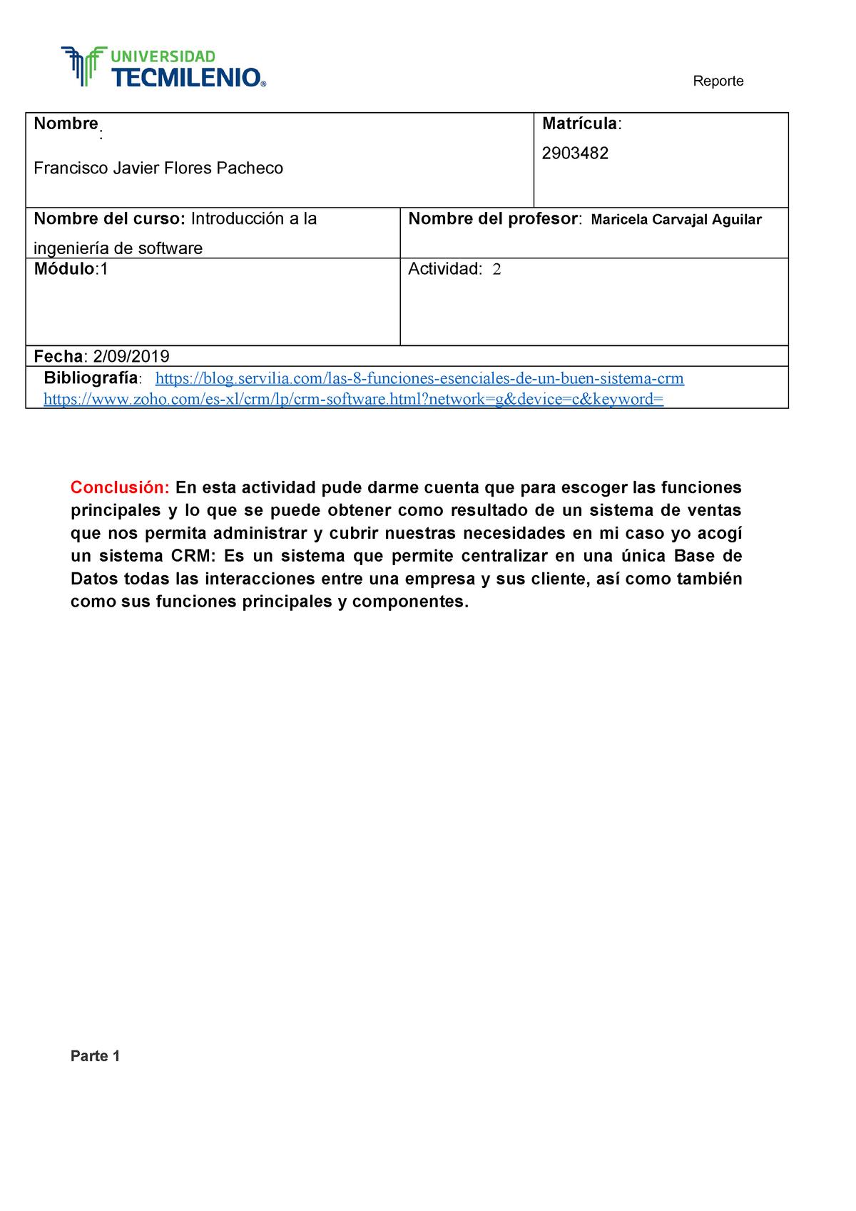Actividad 2 Introducción A La Ingeniería De Software Studocu