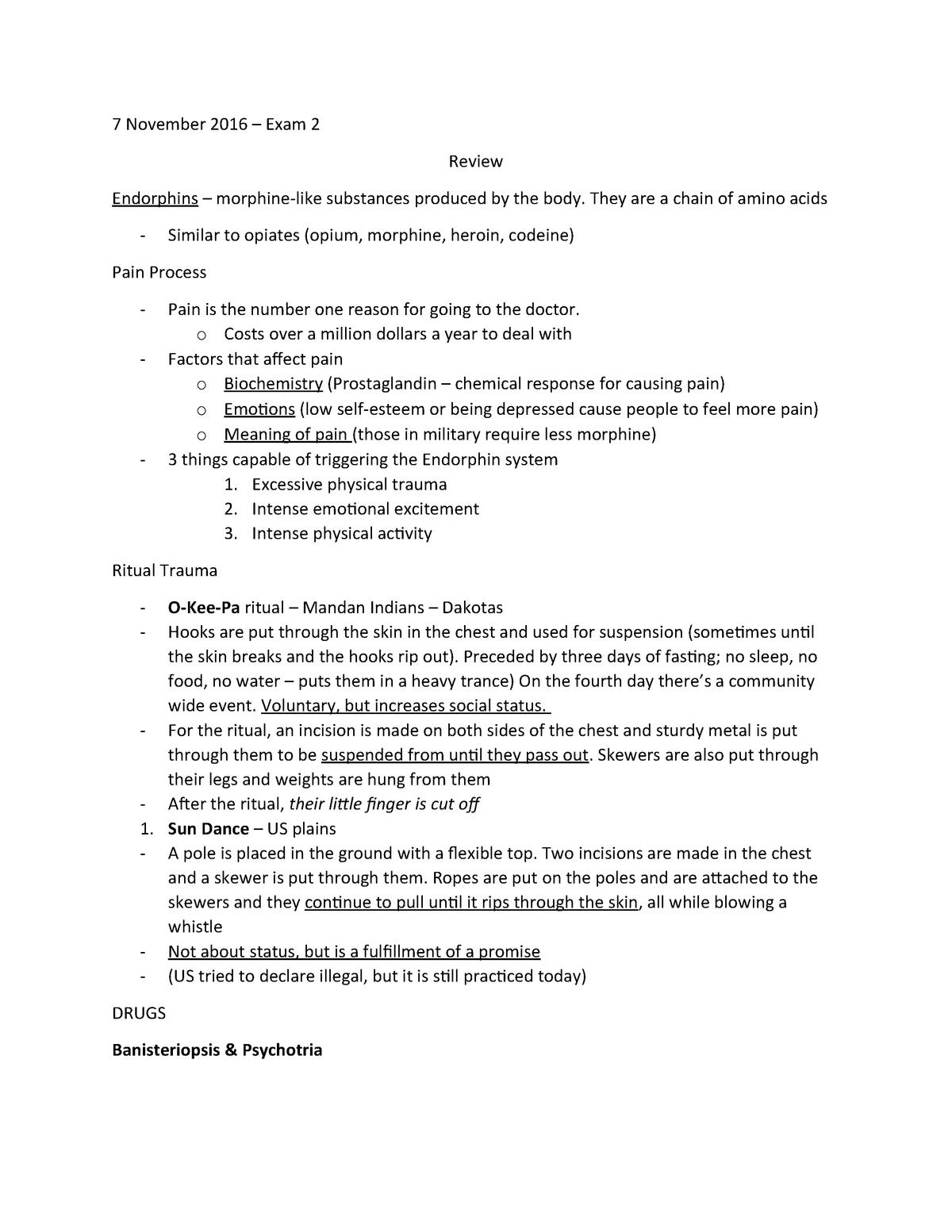 Exam 2016 - ANTH 3305: Magic, Ritual and Religion - StuDocu