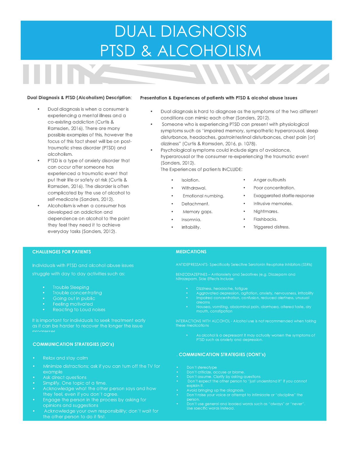 DUAL Diagnosis FACT Sheet 2 - PARA207 : Paramedic Practice: Mental