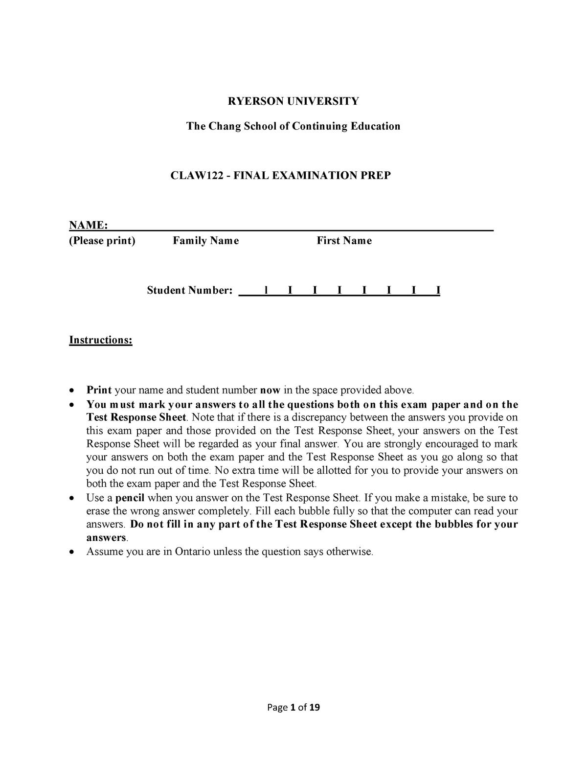 Exam 2018 - LAW 122: Bussiness Law - StuDocu
