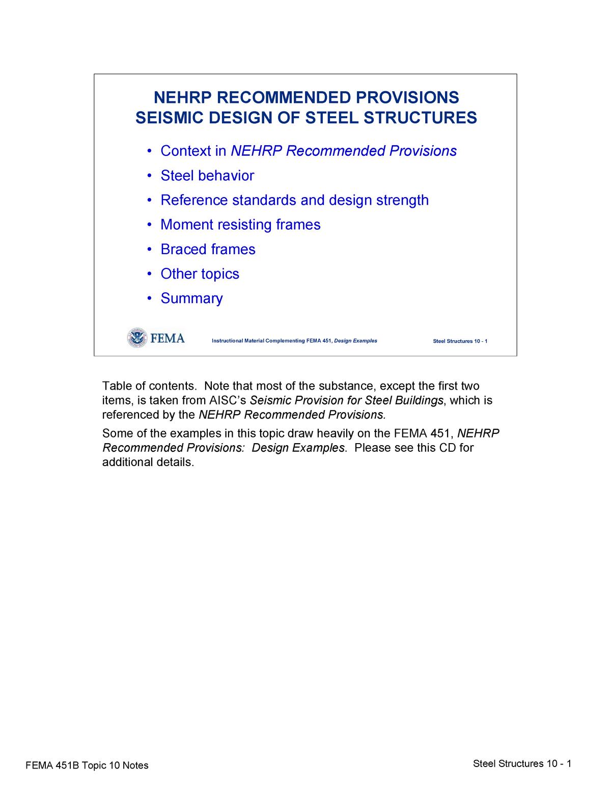 Topic 10 Seismic Designof Steel Structures Notes Civl 8119 Studocu