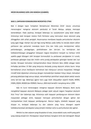 Ringkasan Bab Hubungan Etnik Bab 3 Dan 8 Lmcw2173 Ukm Studocu