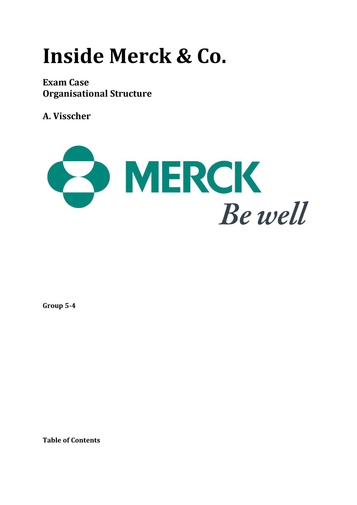 merck core competencies