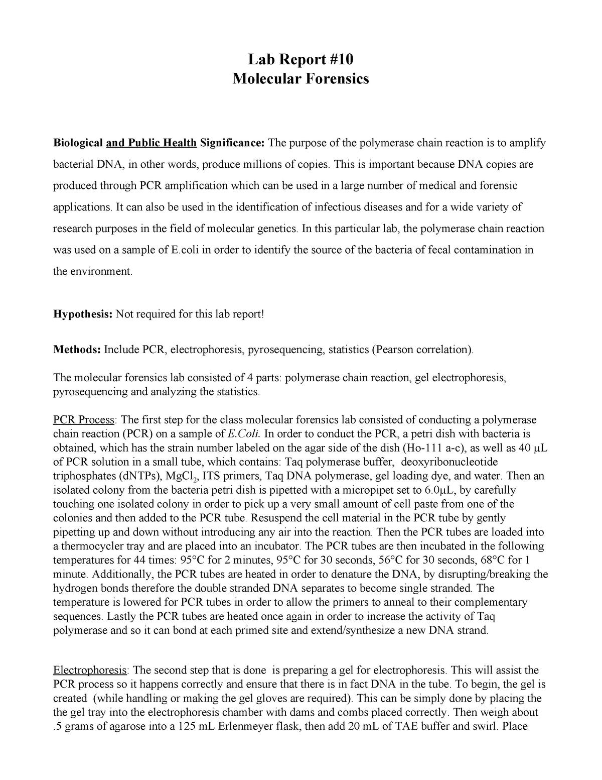 Bio161 Lab Report 10 Bio 161 Cal Poly Studocu