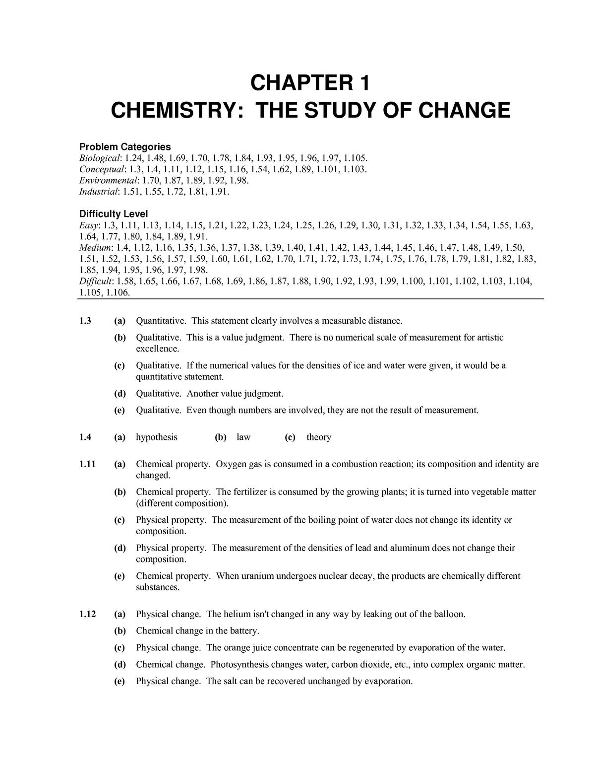 레이먼드 창의 일반 화학 12 판 솔루션 pdf