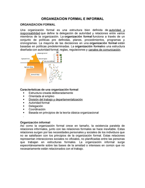 Organizacion Formal E Informal Usmb Studocu