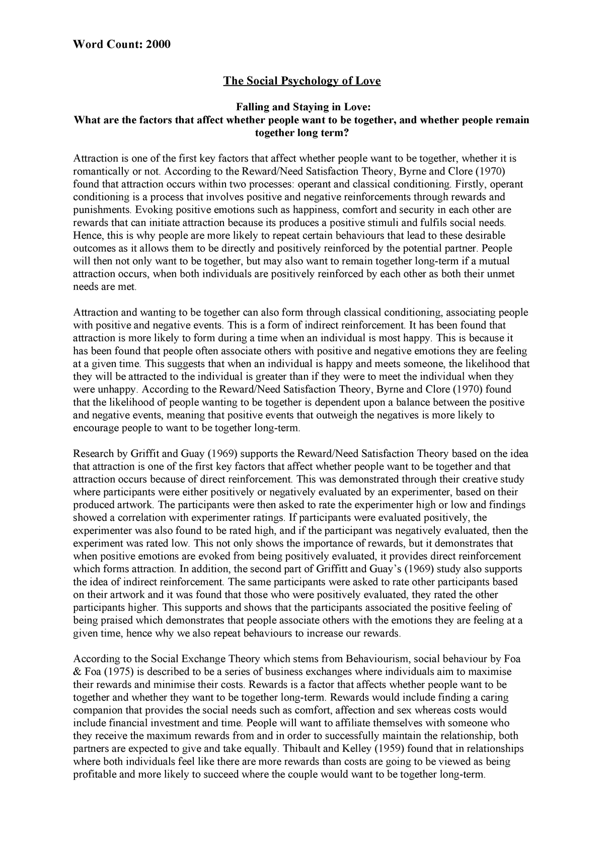 Social Psychology Essay - PY5202 - UEL - StuDocu
