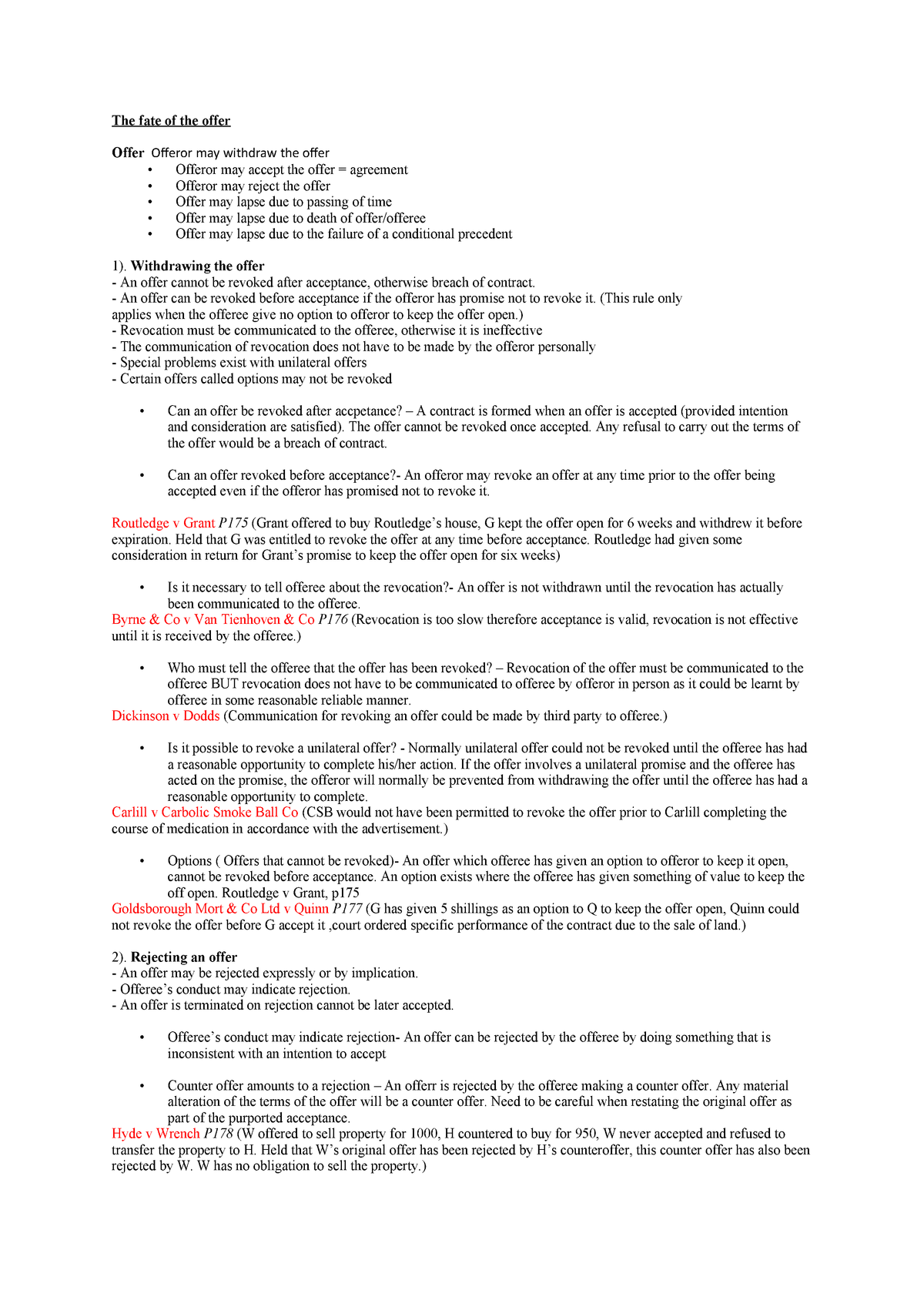Law in Commerce Ultimate Law Exam Notes - BTF1010 - Monash