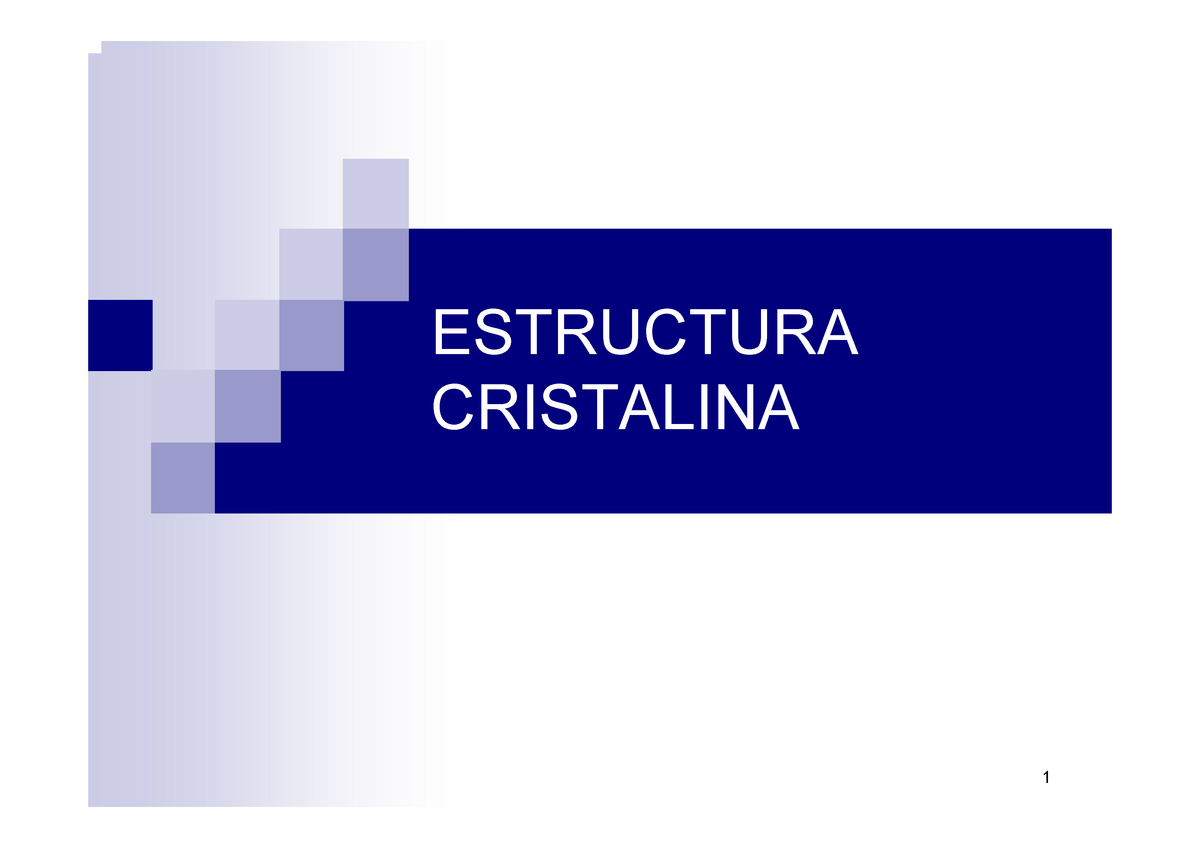 Estructura Cristalina Ciencia De Los Materiales 53104