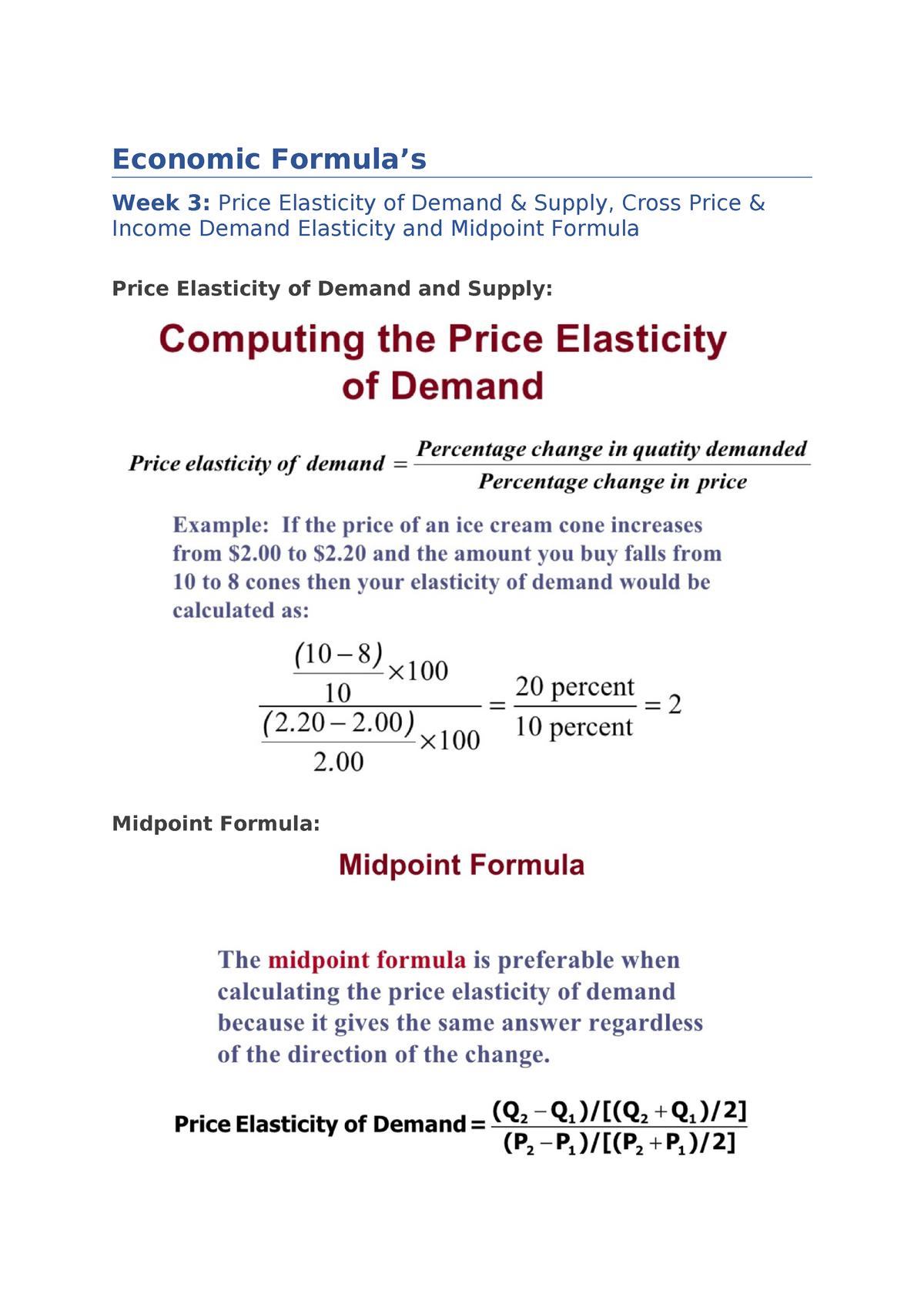 Economic Formula Busm4130 Accounting For Bus Decisions Studocu