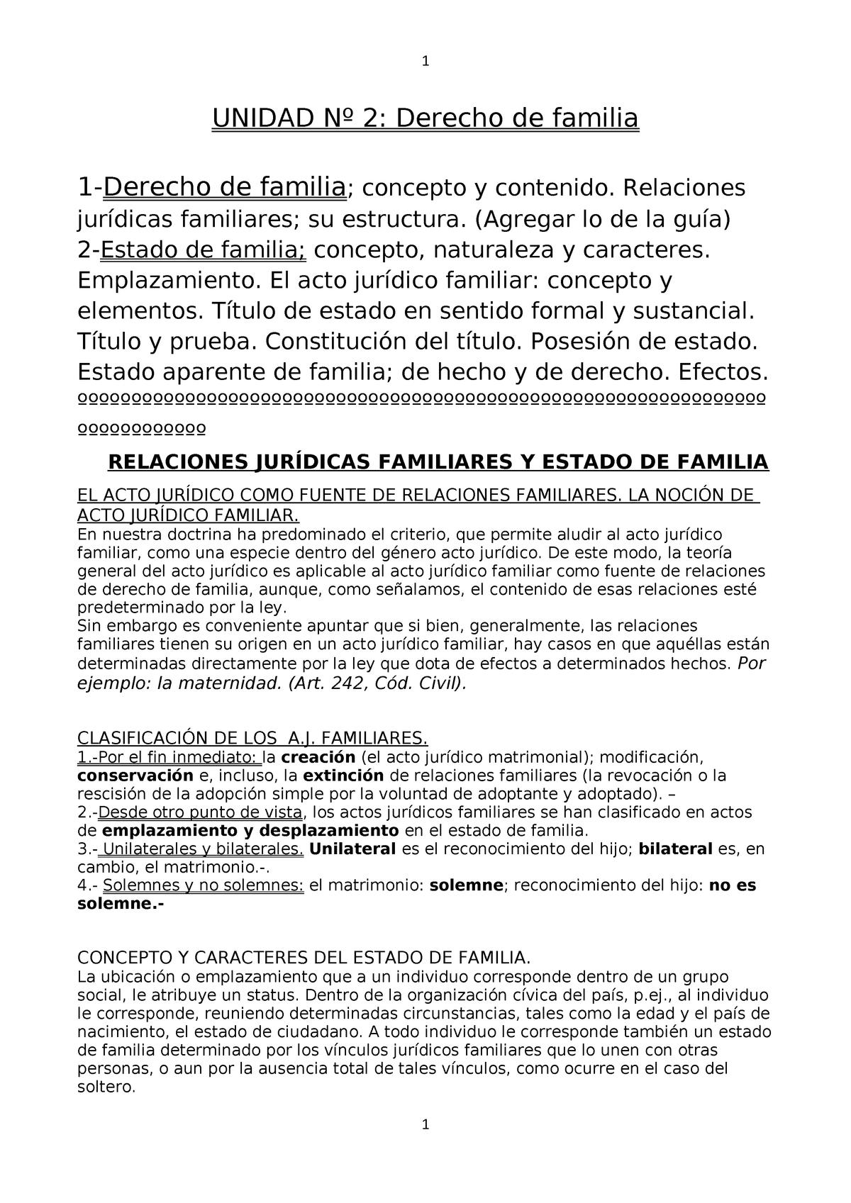Bolilla Nº 2 Derecho De Familia Uncoma Studocu