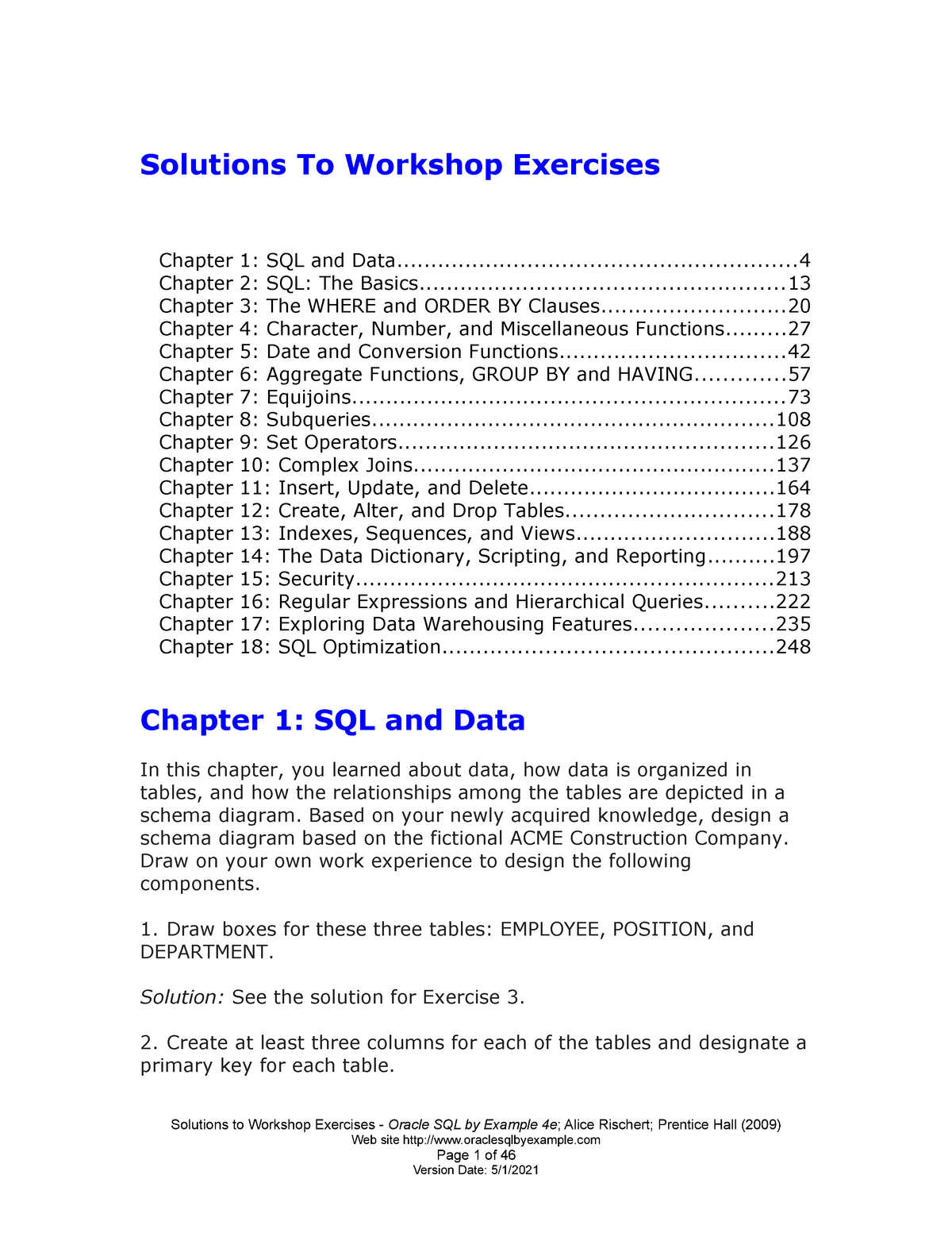 Workshop solutions - Lecture notes 5 - CSIS 3475: Data