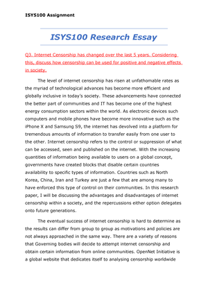 censorship essay outline