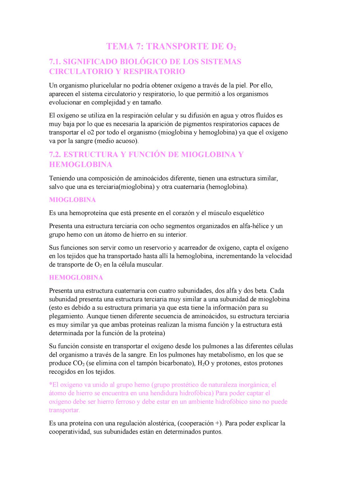 Tema 7 Trasnporte De 02 Bioquímica Md1702 Uji Studocu