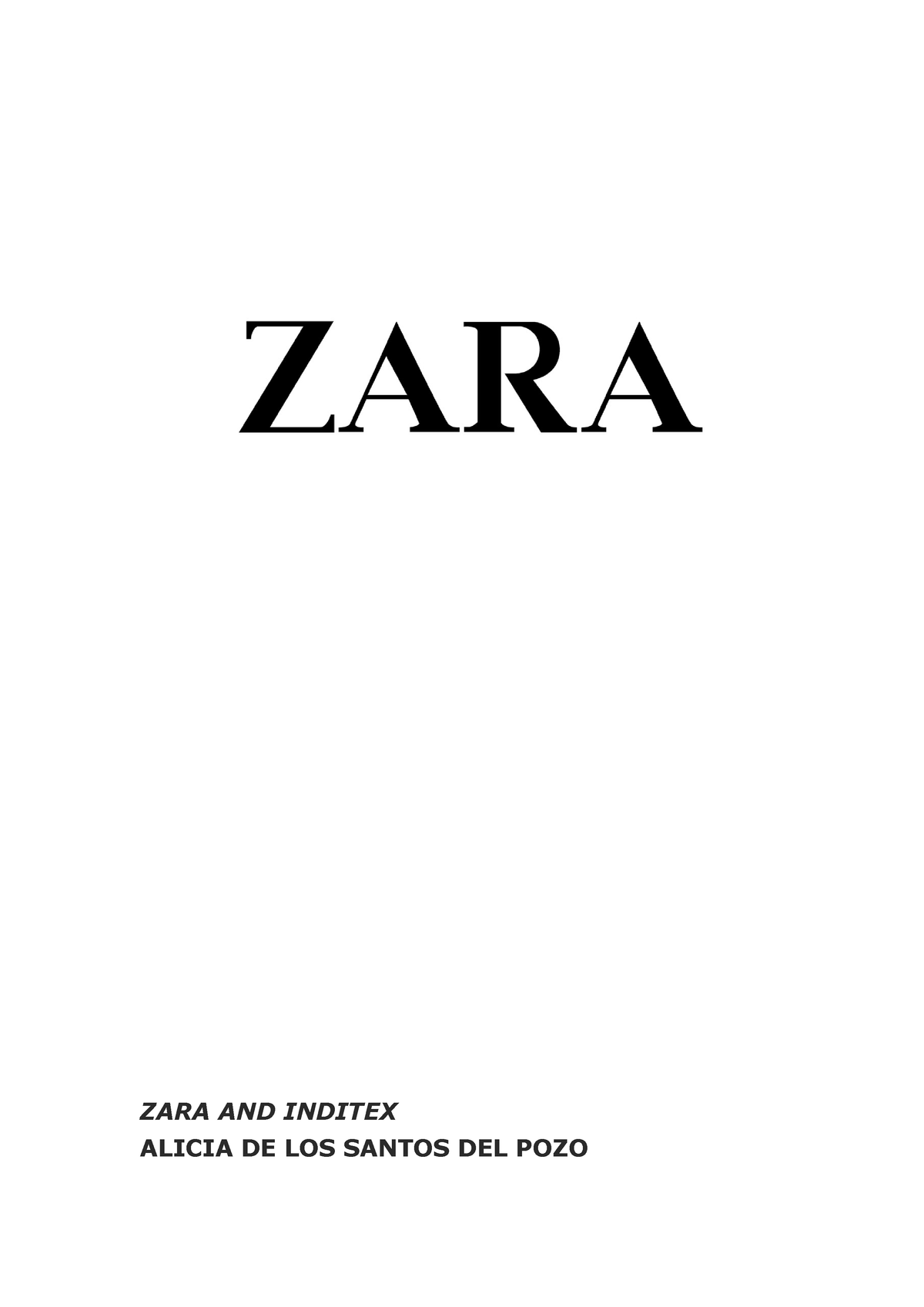 2628ada3 Caso 4 - Internationalization Strategy: Zara - 21139: International  Marketing I - StuDocu