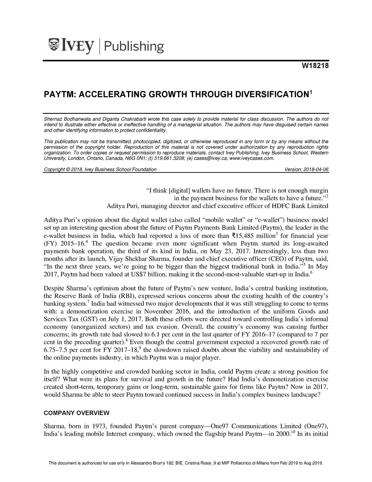 caso Paytm W18218 PDF ENG flipped classroom - 96092