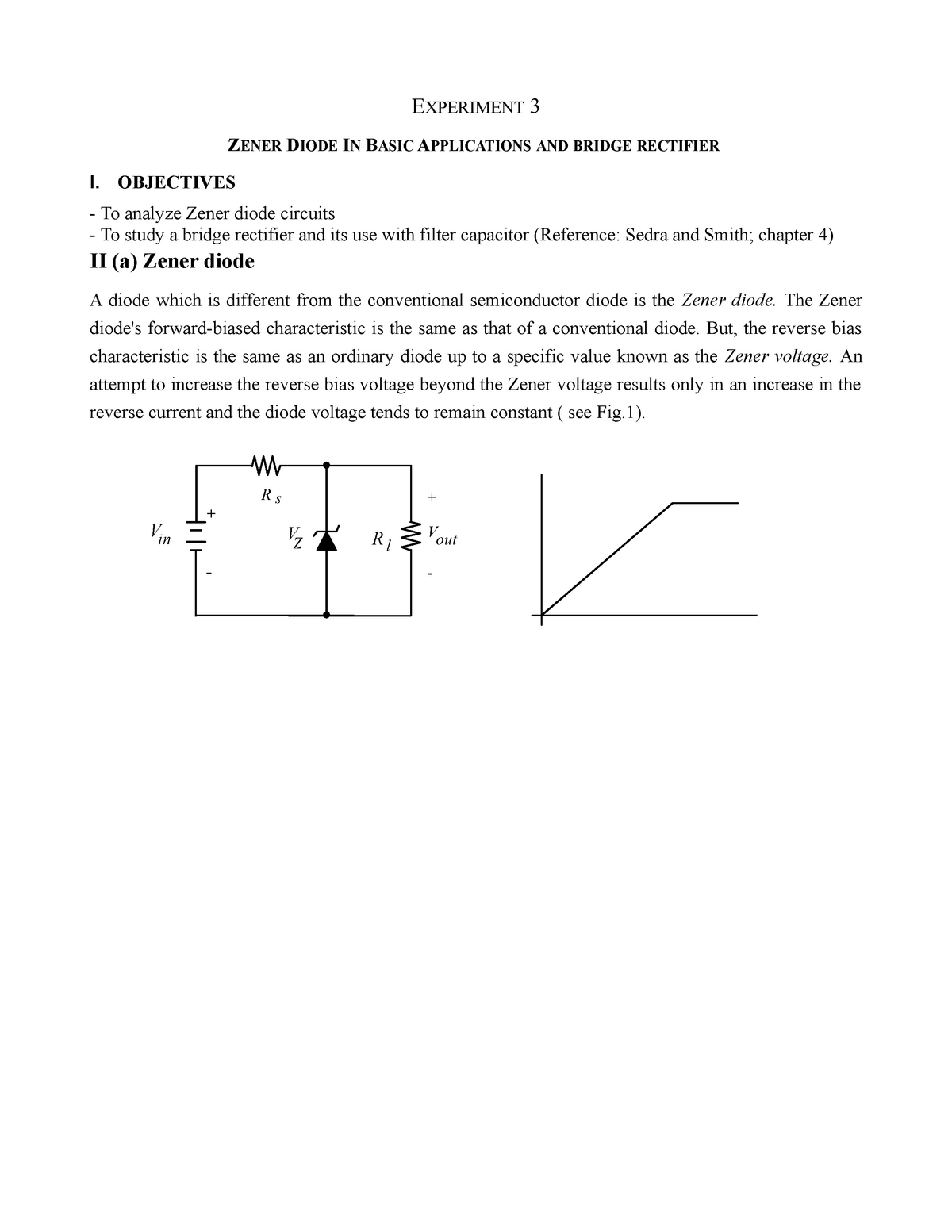 Seminar assignments - pspice lab 3 - zener diode in basic