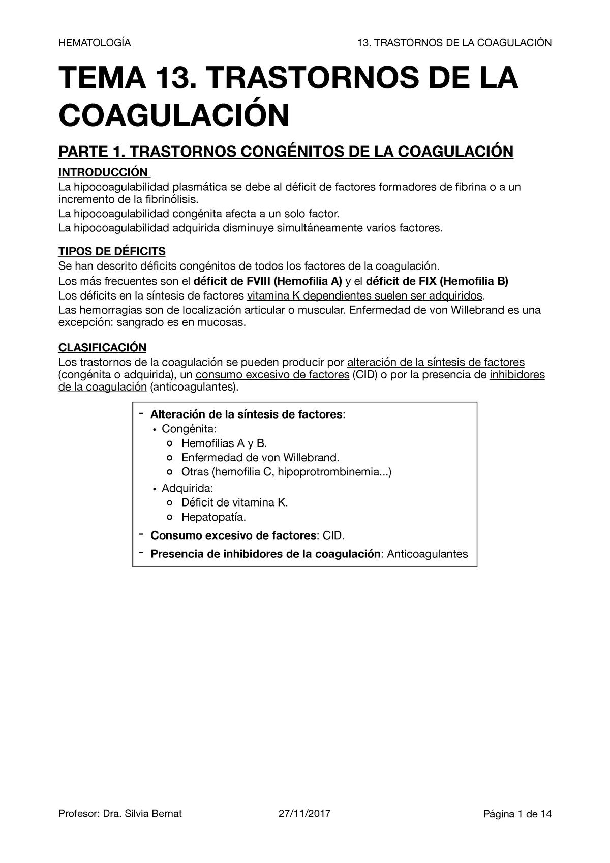 Factores De Coagulacion Dependientes De Vitamina K Download
