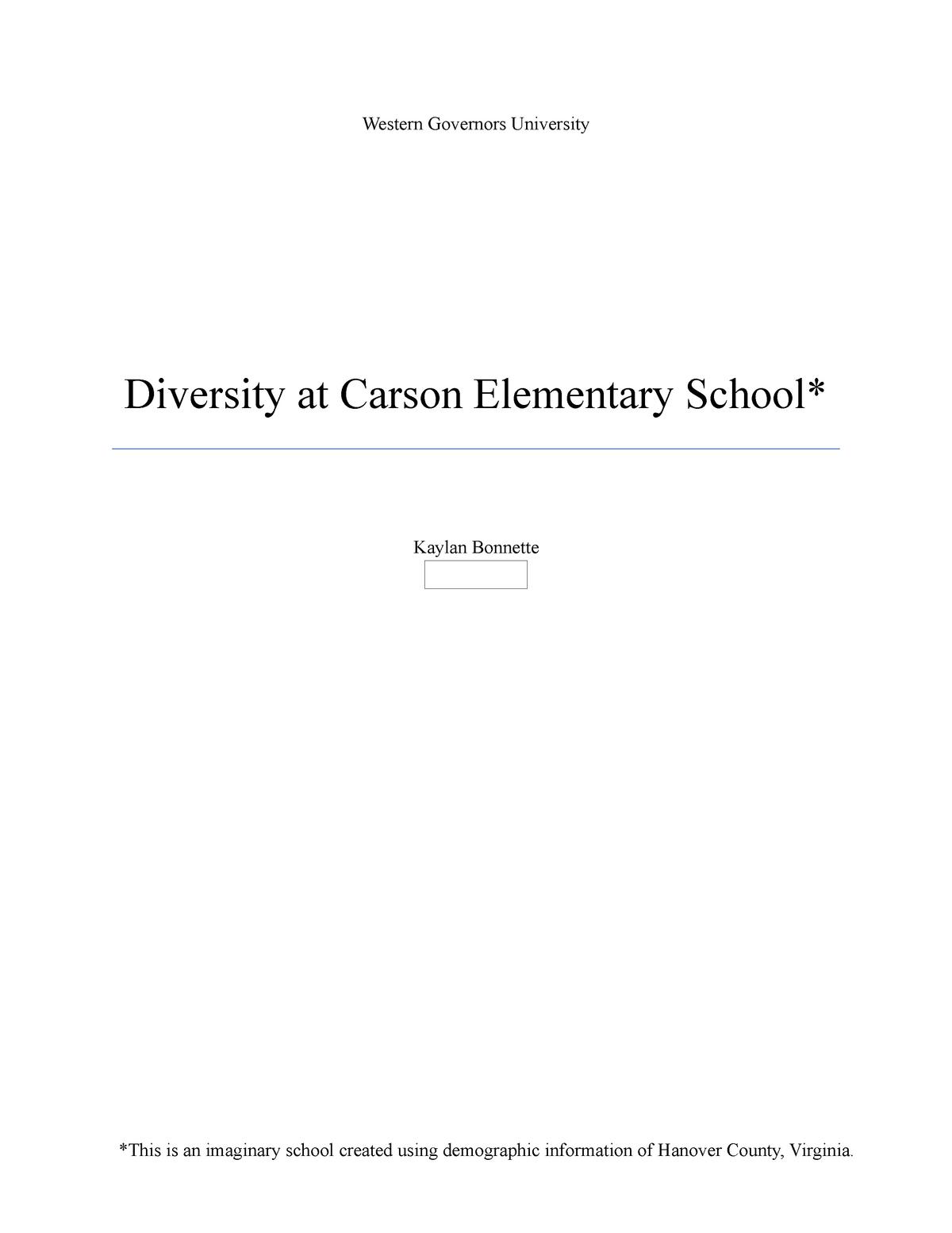 Task 2 - task 2 - EDUC 2240: Cultural Studies and Diversity - StuDocu