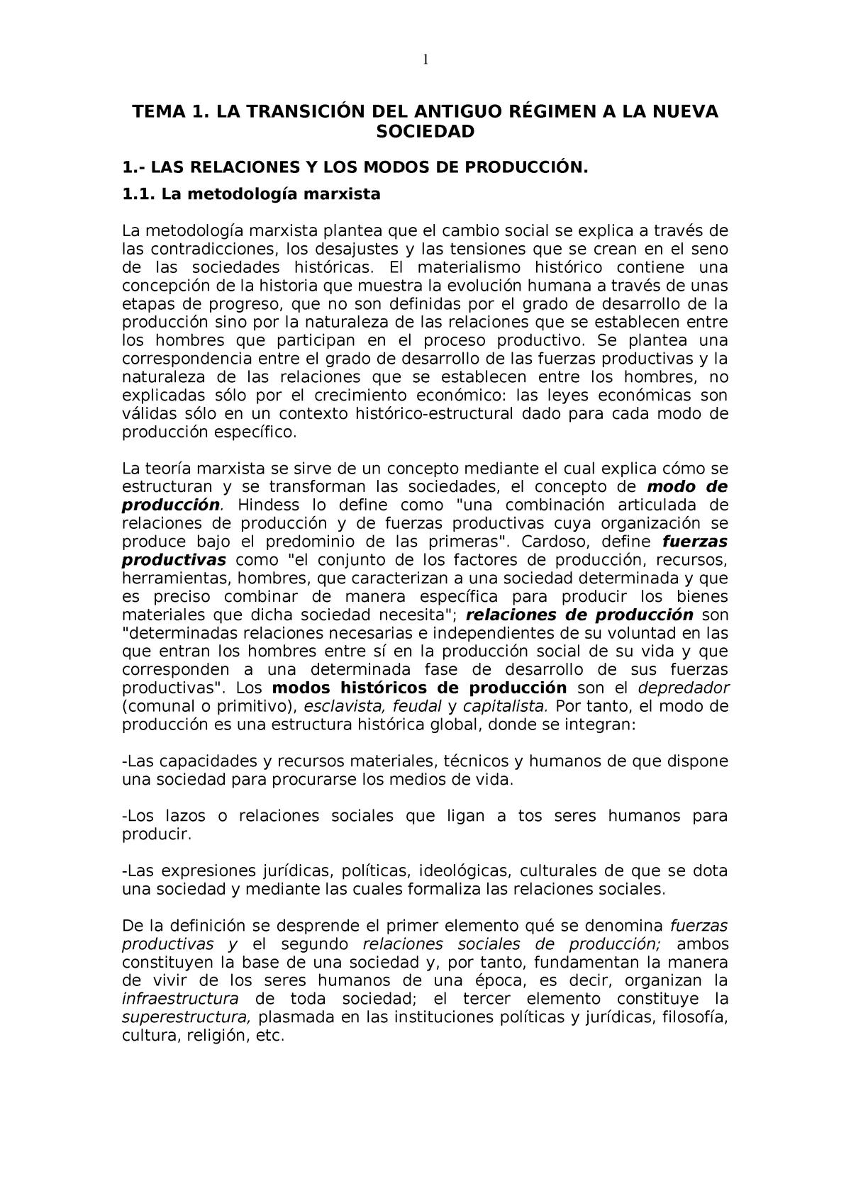 Tema 01 De Historia Social 1907 Umh Studocu