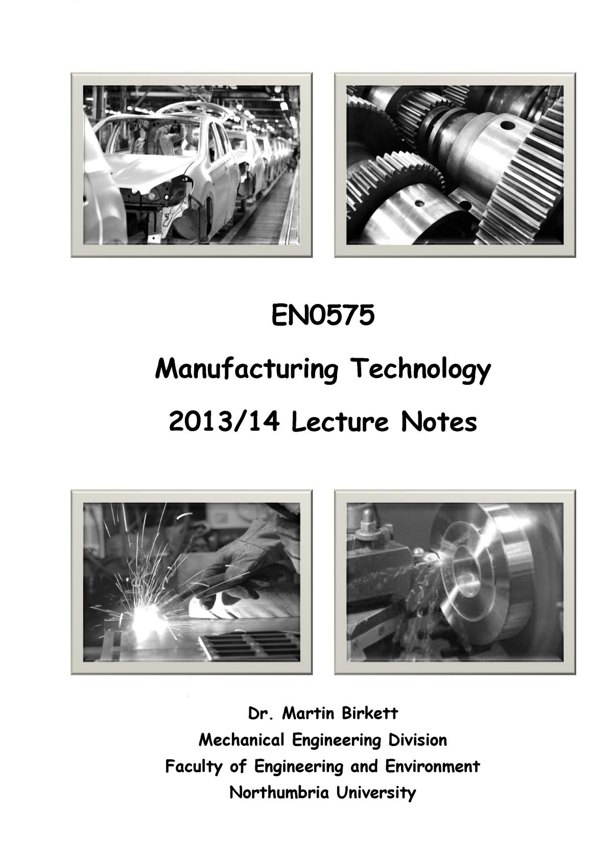 Lecture notes, lecture 1 - -student notes - part 1(2) - part