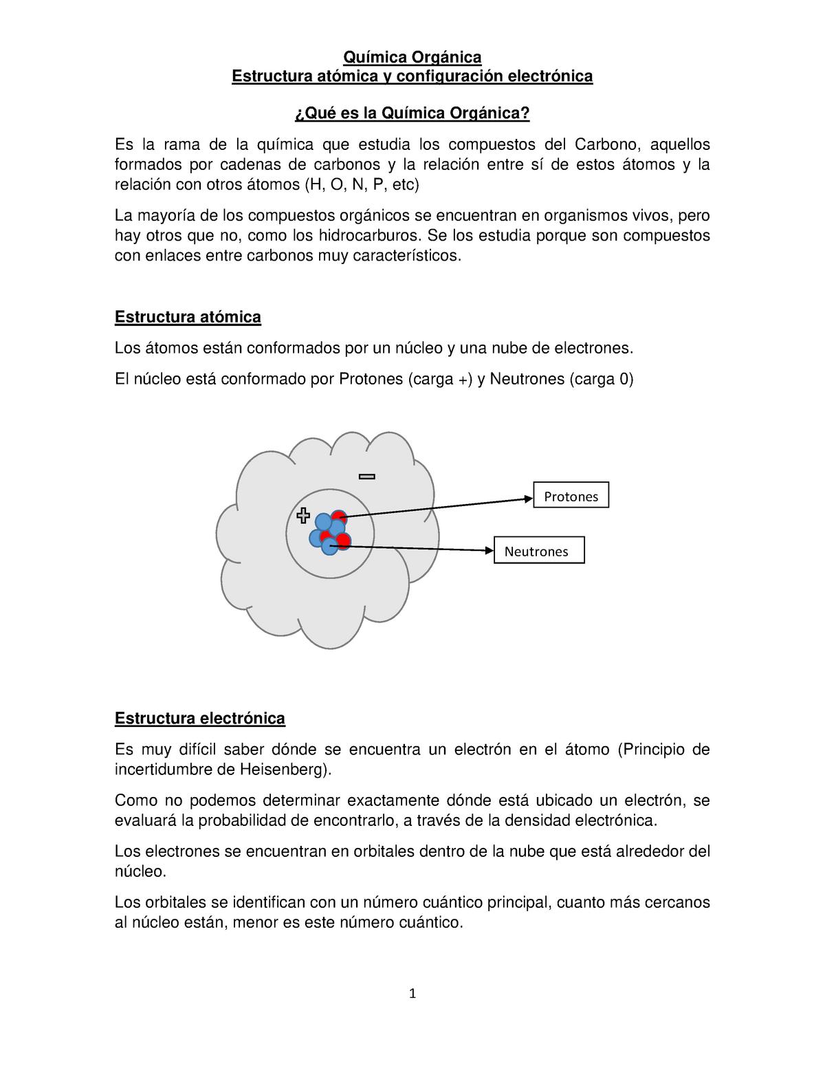 Estructura Atómica Y Electronica Del Carbono Uncoma
