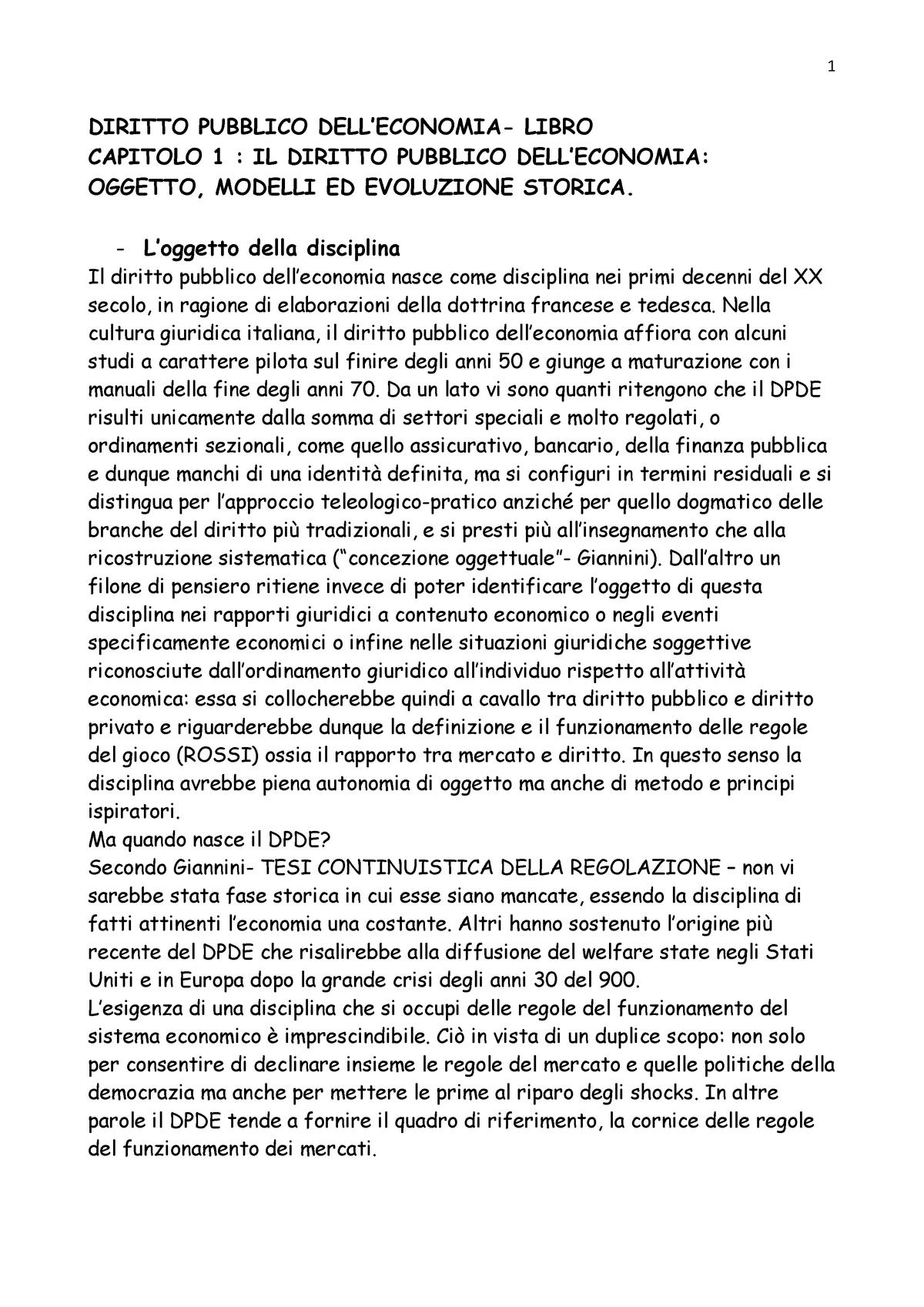 e65c603fb4 Riassunto Diritto pubblico dell'economia 16 Nov 2017 - StuDocu