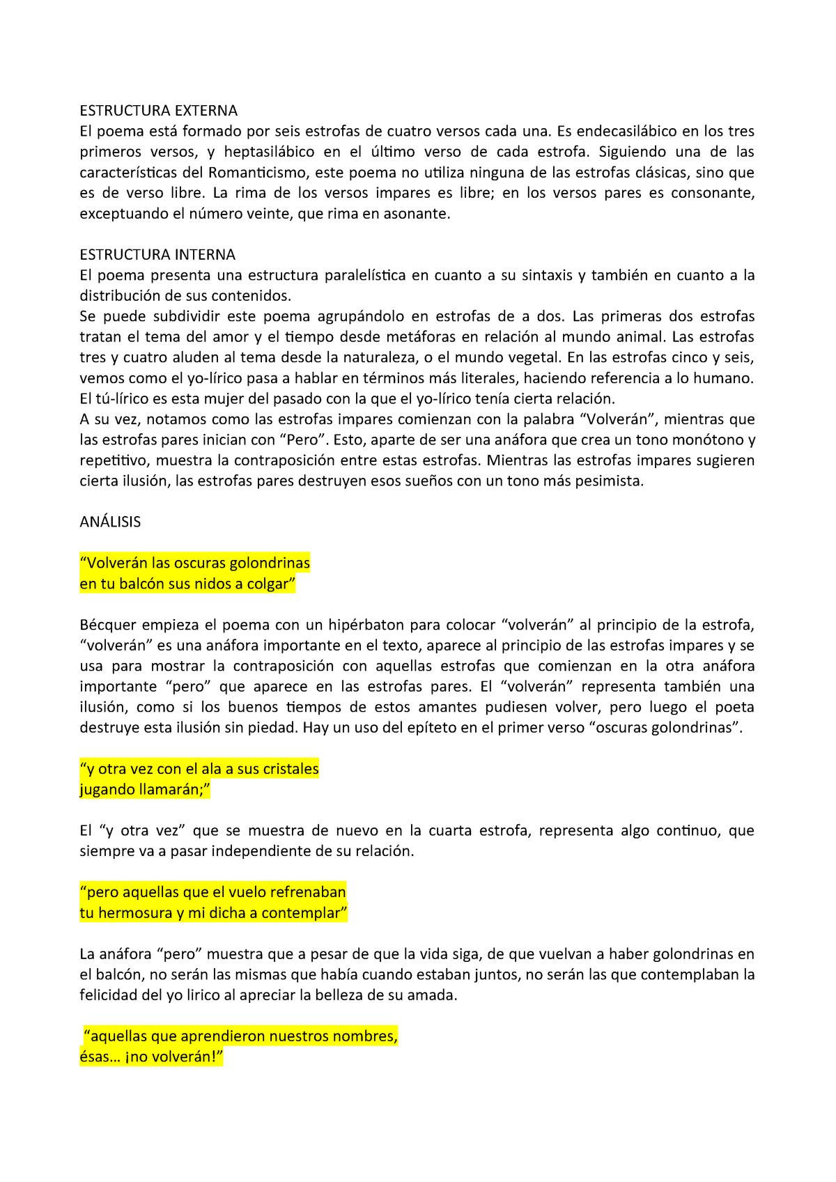 Becquer Appunto Di Letteratura Spagnola Ll 27001168