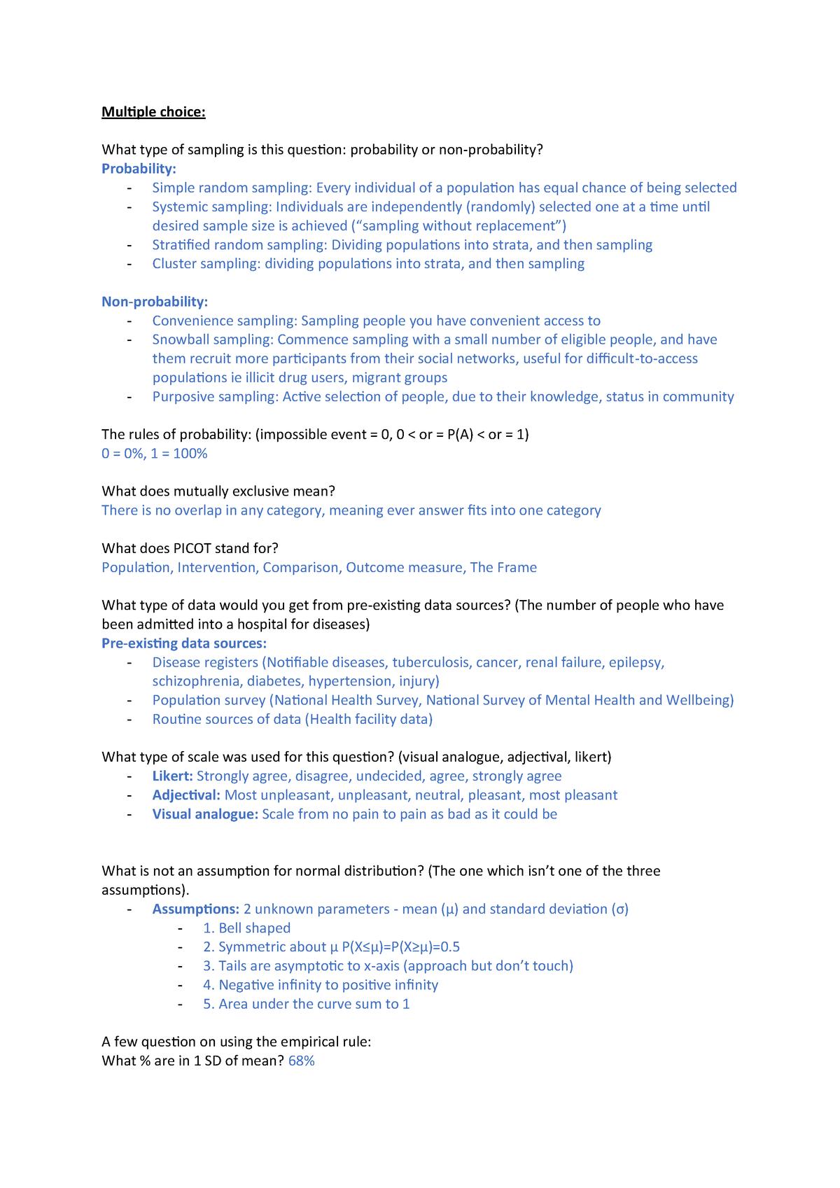 Exam 2018 - HS2402:03: Health Professional Research 1 - StuDocu