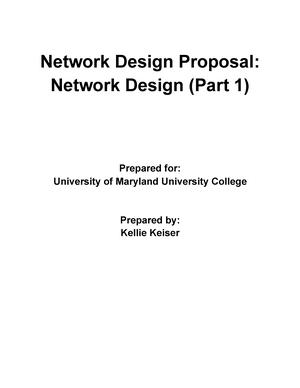 Network Design Proposal Part 1 - CMIT 265 - UMUC - StuDocu