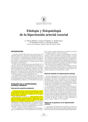 Hipertensión arterial esencial definicion de amor