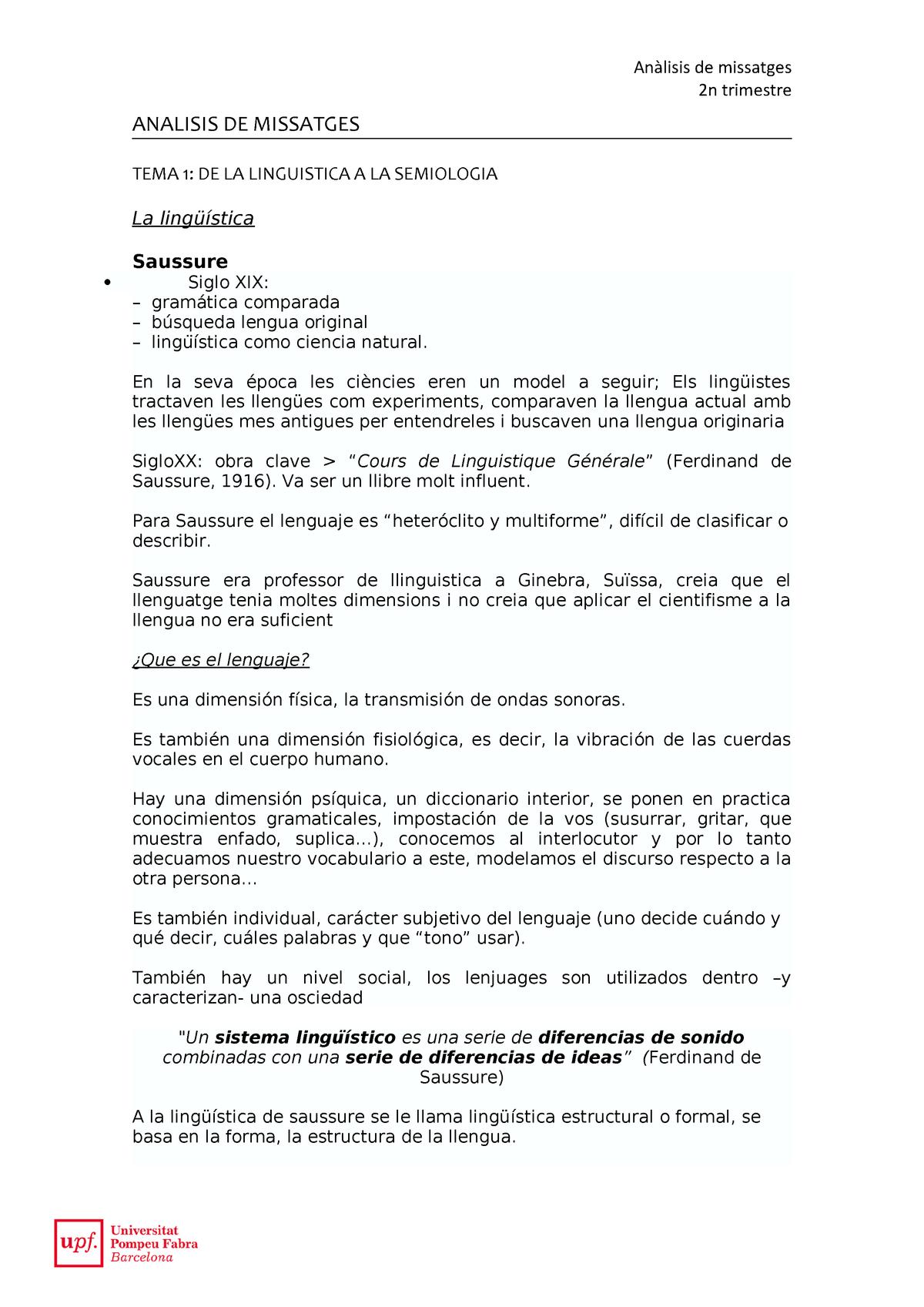 Tema 1 Apuntes 1 Anàlisi Dels Missatges Publicitaris