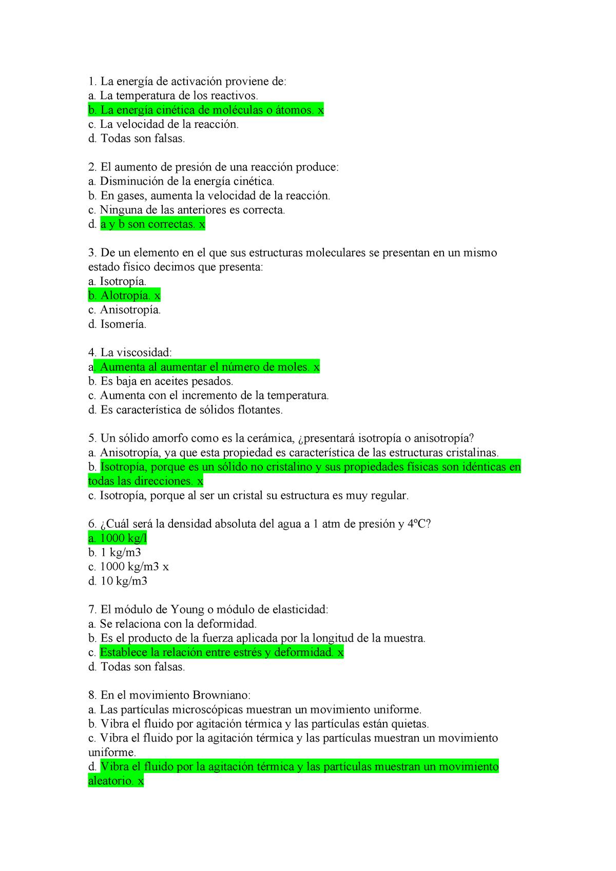 Examen 15 Octubre 2016 Preguntas Y Respuestas Studocu