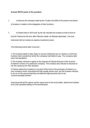 trustee act 2000 standard investment criteria exit