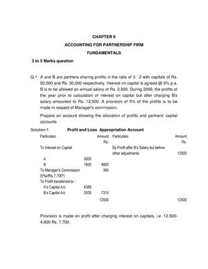 Partnership Accounting Sample Questions Studocu