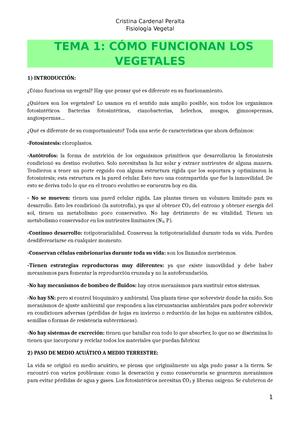 Fisiología Vegetal - Apuntes, lecciones 1 - 16 - 27114: Fisiología ...