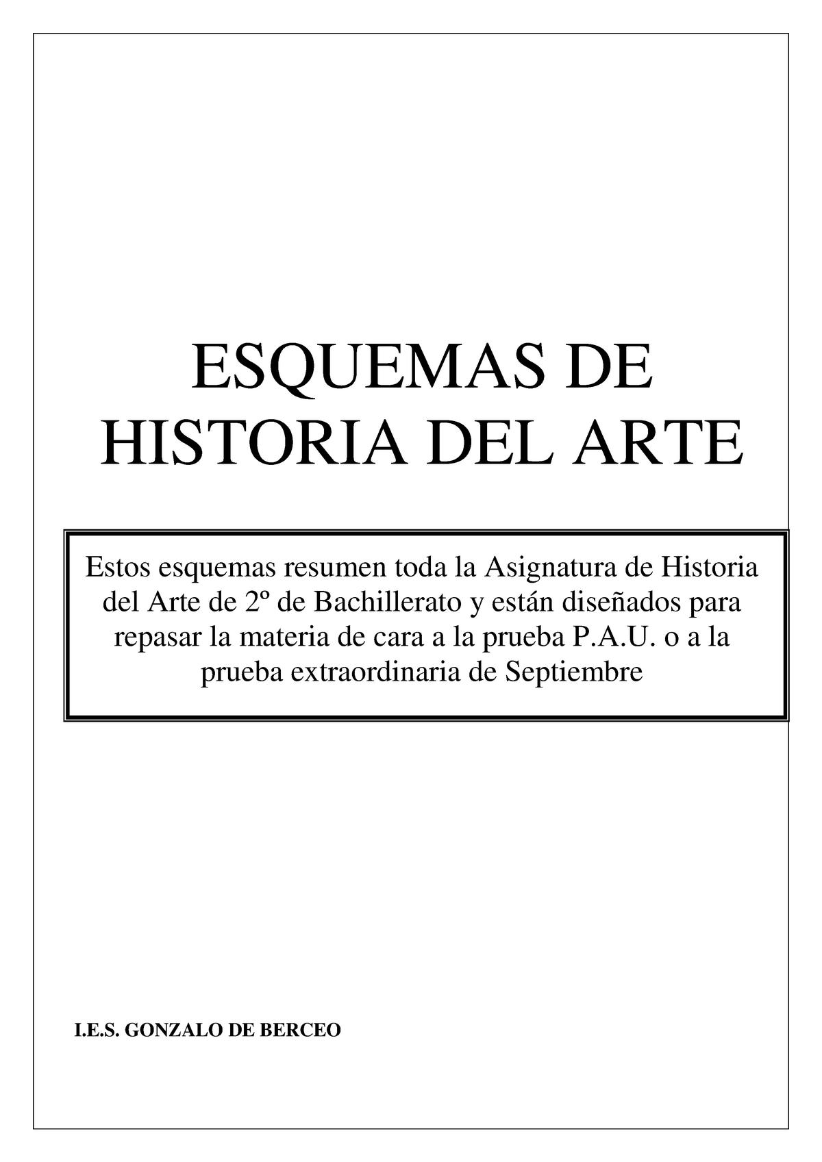 Copia De Esquemas De Historia Del Arte 00223344 Uned