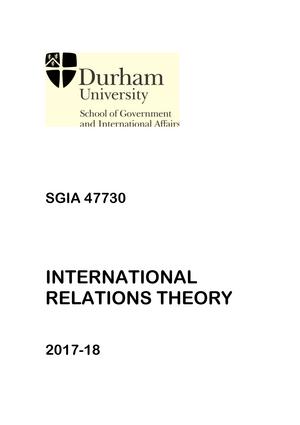 Ma International Relations Theory Handbook 2017 18 Uploaded Jan