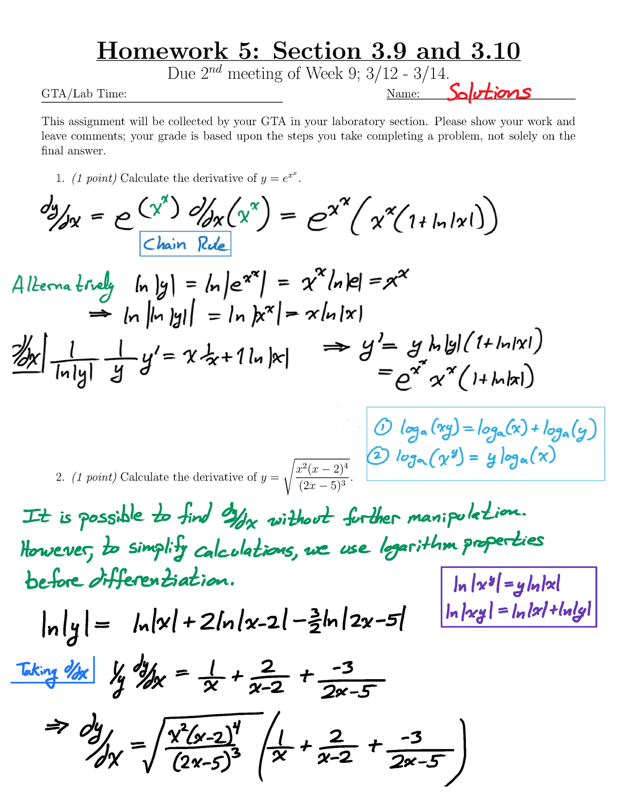 math 125 homework
