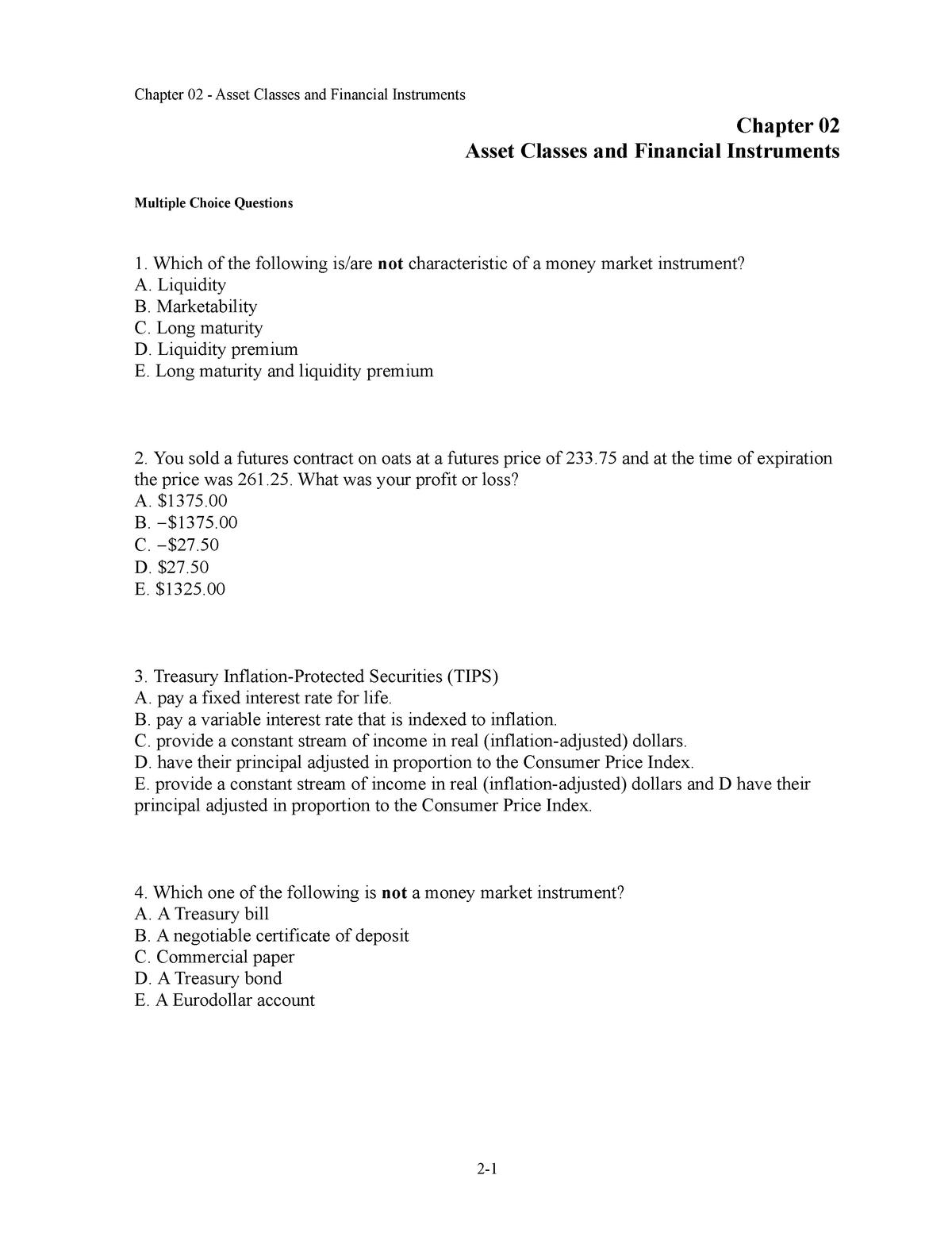 Finans quizlet Q - Finance 2 FE2103 - Stockholms Universitet