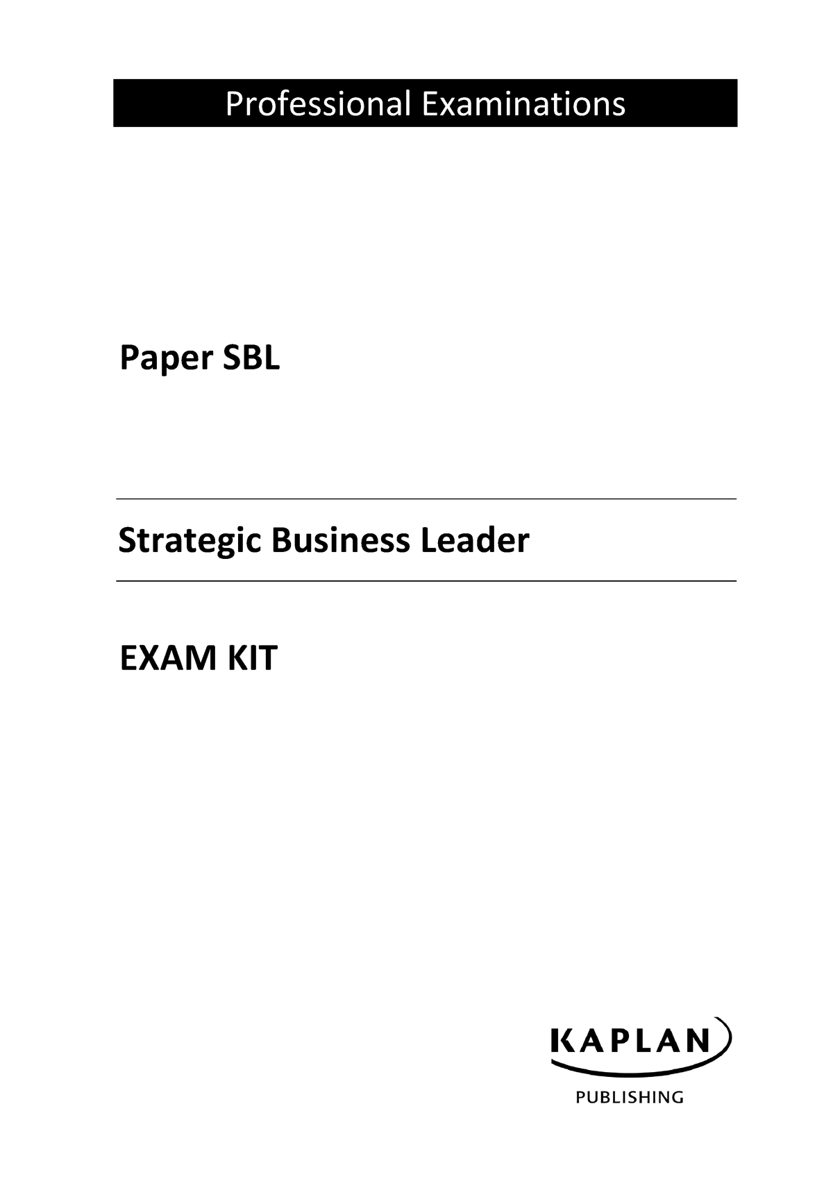 SBL Exam Kit 2018-19 - CM460 Strategic Communication - StuDocu