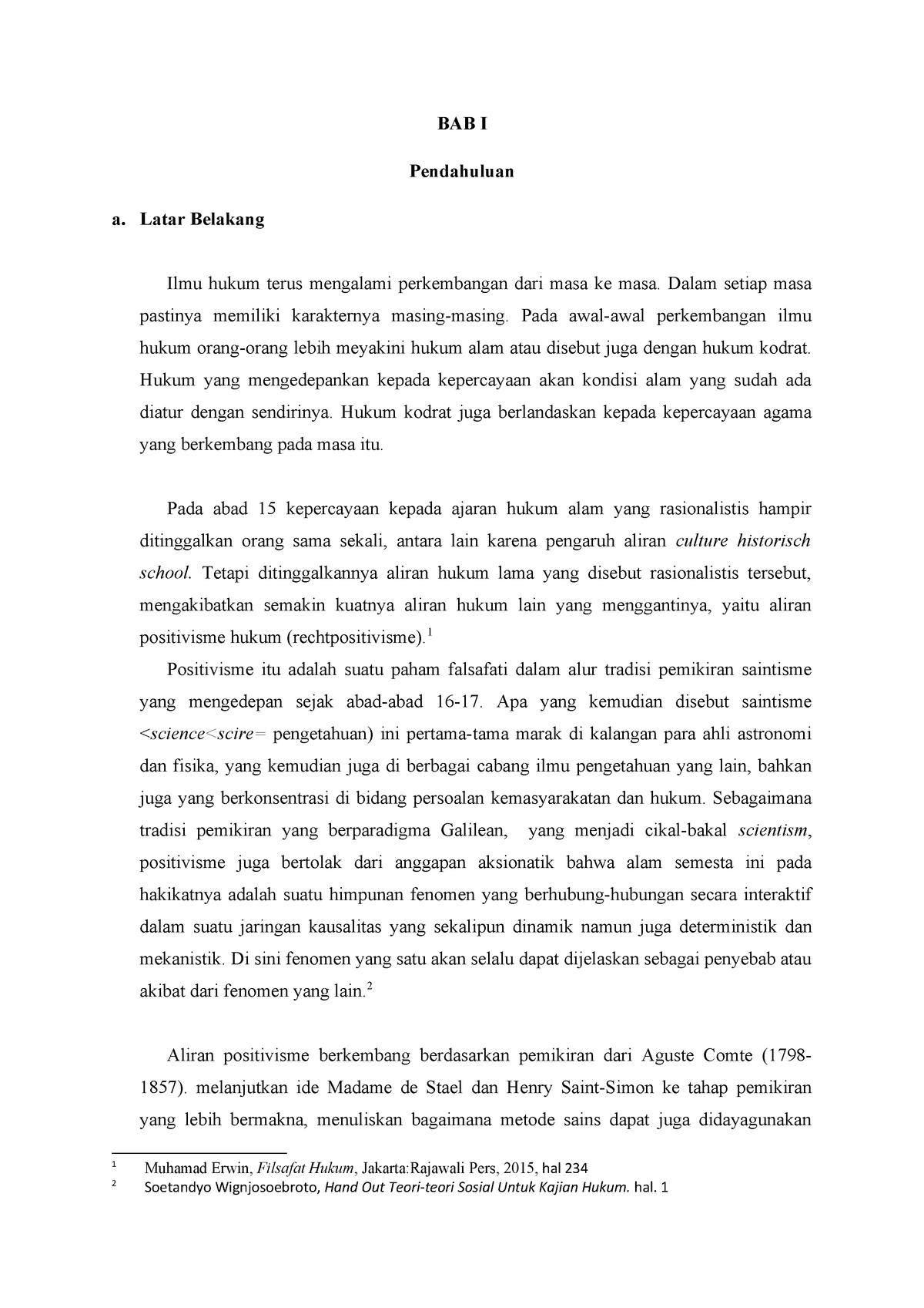 Makalah Teori Hukum Grade A Studocu
